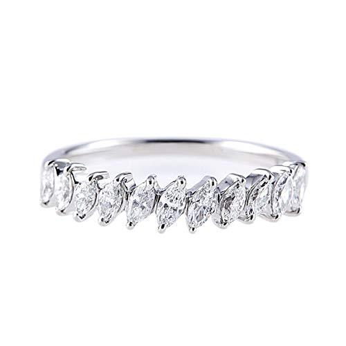 カナディアンダイヤモンドリング 計0.50ctUP [PT950] 専用ケース付 22号