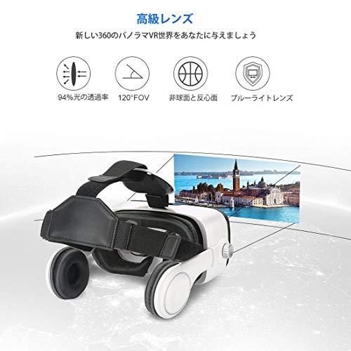 『Virtoba X5 VR BOX 3Dメガネ 3Dグラス VRゴーグル スマホゴーグル 焦点距離調節(ヘッドセット実装)』の2枚目の画像