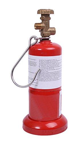 leere rote befüllbare Handwerkerflasche Gasflasche Propan Butan 0,5 kg Flasche