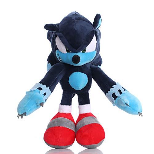Shadow The Hedgehog Plush Toy Stuffed Doll Shadow Animal Toy 15.7 Inch (blue2-11.8 in, M(15.7 in/40cm))