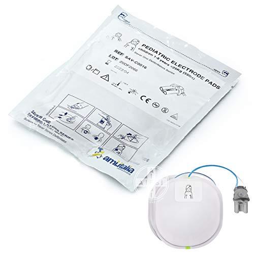 AMI ITALIA Placche originali di ricambio per defibrillatore SAVER ONE e SAVER ONE D coppia per bambini...