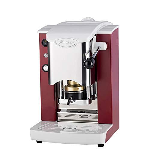Faber Slot Inox Machine à café, à dosettes ESE de 44 mm - Rouge