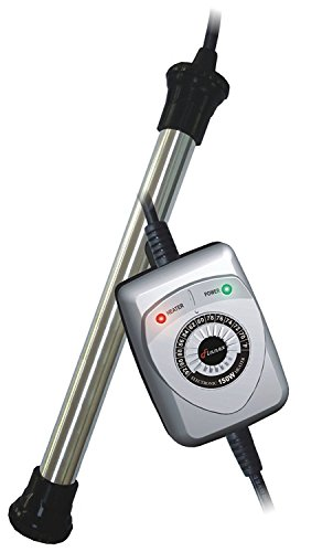 Finnex 150-Watt Hang-On Electronic Controller Aquarium Heater, Titanium Tube, 30 to 60-Gallon