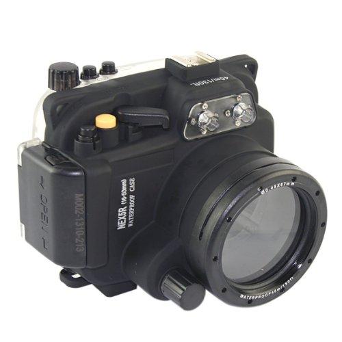 carcasa submarina para cámara Sony NEX5R 16-50mm Lente - Carcasa acuática para cámaras