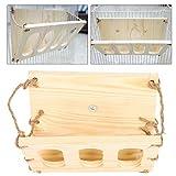 Accesorios para jaulas de animales pequeños, estante plegable de madera para alimentación de césped fácil de almacenar, para conejos chinchillas