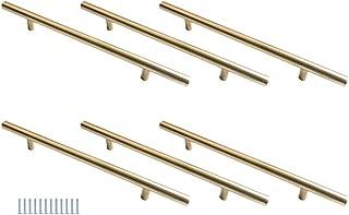 Hysstore 6 Pièces Poignées de Meubles 160 mm T Forme Poignée d'armoire Poignées de Tiroirs en Alliage d'aluminium pour Cui...