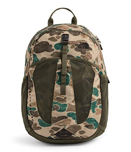 The North Face Recon Squash Backpack (Youth) Hawthorne Khaki Duck Camo Print/New Taupe Green One Size