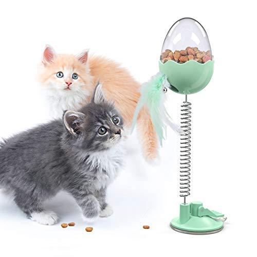 DADYPET 猫おもち 猫羽のおもちゃ ゃ 餌入れ食器 猫ボール おやつボール 揺れるおもちゃ 犬猫用フードおもちゃ おやつボール 早食い防止 ストレス解消 運動不足対策 光る鈴付き