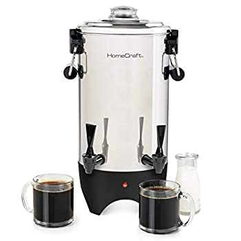 HomeCraft CUDS45SS Quick-Brewing Stainless Steel 1000-Watt Automatic 45-Cup Double-Faucet Urn Coffee Espresso Water Tea Hot Chocolate