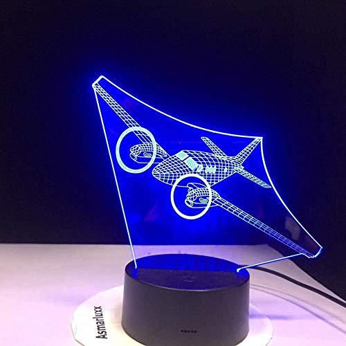 3D Night Light Air Plane Forme LED Acrylique Petite Lampe De Nuit Cadeaux D'anniversaire pour Enfants Décoratifs pour La Maison