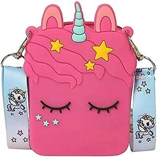 SKreations Girls' Unicorn Sling/Cross Body Shoulder Mobile Phone Bag(Random Colour and Design)