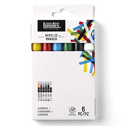 LIQUITEX Professional Paint Fine Marker Set, 6-Pieces