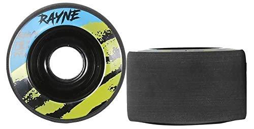 Rayne Longboard-Räder, 70 mm, 77A, Schwarz