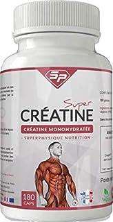 SUPER CRÉATINE DE HAUTE QUALITÉ • 100% créatine en gélules • MADE IN FRANCE • Pour 1 MOIS • SuperPhysique Nutrition