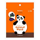 Berrisom Animal Facial Sheet Mask | Panda | Moisturizing & Vitalising with Blackberry | 25 ml | K-beauty