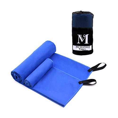 """Micv 2er-Pack Mikrofaser Handtücher XL, hochsaugfähig und schnell trocknend, klein, leicht ,Microfaser-Badetuch (56\""""x 30\"""") Strandhandtuch (28\""""x 12\"""") für Sport,Strand, Yoga"""