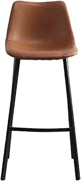 AO Stools Nordic Leisure High Stool Cafe Back Metal Bar Chair Home Restaurant Dining Chair 99x75x43cm