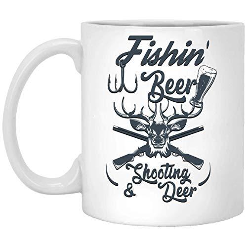 N\A Fishin_ Jarra de Ciervo de Tiro de Cerveza Blanco 01_10 Taza 11oz