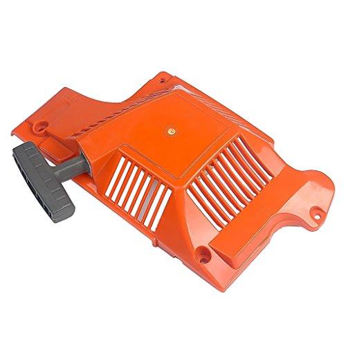 perfk Arrancador de Retroceso de Plástico Arrancador de Rebobinado Arranque de Tracción para Motosierra Husqvarna Rojo