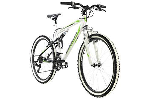 KS Cycling VTT Tout Suspendu 26'' Scrawler Blanc TC 51 cm