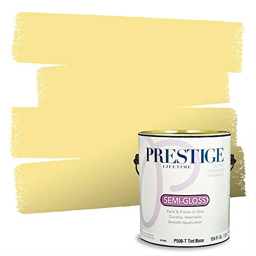 Prestige Paints Interior Paint and Primer In One, 1-Gallon, Semi-Gloss, Comparable Match of Sherwin Williams* Fun Yellow*