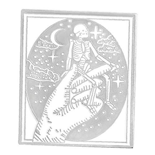 Aisoway Dunkle Emaille Pin Dämon Satan Satanismus Metallpunk Böse Hexe Halloween Pins Gotische Skelett Puck Brosche Schmuck Abzeichen