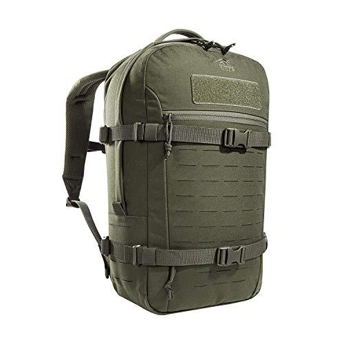 Tasmanian Tiger TT Modular Daypack XL Molle-kompatibler, Ergonomischer Tages-Rucksack mit Kompressionsriemen, Trinksystem-Vorbereitung, 23 Liter (Oliv)
