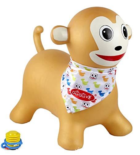 JISHIYU Cartoon Monkey Shape Jumping Ride On Toy Hopper Training And Motor Development Send Air Pump