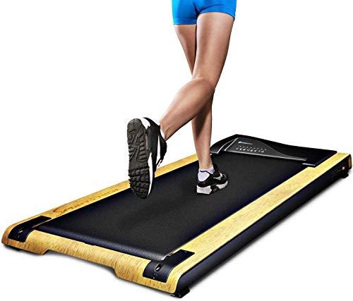 DESKFIT Cinta de correr para oficina / mesa DFT200 Walkstation, deporte fitness para correr en casa o en la oficina, trabajar mientras camina, proteger la espalda, ergonómico, soporte para tableta de Sportstech (marrón claro)