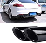 Tubo de Escape de Coche 2 × Silenciador de Tubo de Escape de Acero Inoxidable, para Porsche Palamela GTS 2014-2016 Decoración de Tubo de Escape de Coche Salida Doble-Black_Titanium