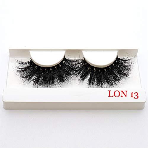 5D Mink Hair Lashes Eyelashes Extension Thick Long 25mm False Eyelashes Eye Beauty Wispy Cross Handmade Reusable 1 Pair