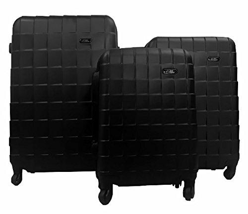 Set Maleta Viaje Rigidas Resistente Kit Colores Modelos Varios (Cuadros, Negro)