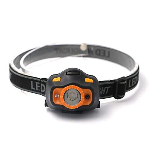 YGB Número de Faros Delanteros LED con Sensor de Movimiento Corporal Faros Delanteros inductivos Mini Faros Delanteros 2 interruptores Linterna Frontal para Acampar al Aire Libre Lámpara antorcha