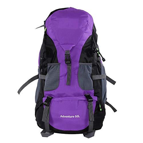 SALUTUYA Zaino da Campeggio Pieghevole di Alta qualità Zaino Impermeabile Pratico e Resistente Zaino Leggero da Bicicletta Zaino Sportivo per Donna e Uomo per Il Fitness Corsa(Purple)