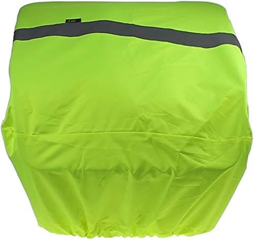 P4B | Fahrrad Korbabdeckung - Regenschutz | REFLEX Neongelb | Wasserabweisende Korbabdeckung mit Reflexstreifen