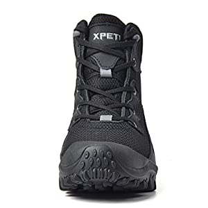 XPETI Women's Dimo Mid Waterproof Hiking Outdoor Boot Black 7.5