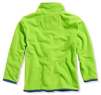 Playshoes Fleece-Jacke Farbig abgesetzt Blouson, Vert (Grün 29), 104 Fille