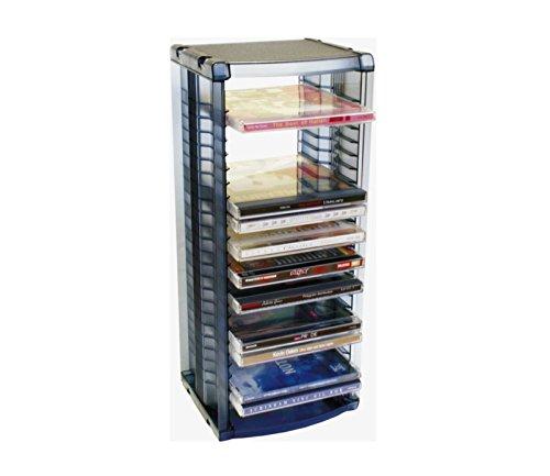 ProfiOffice Media Rack MR-26S, Regal zur Aufbewahrung von 26 CD mit Hüllen, Ständer mit Halter, aufhängbar (07014)