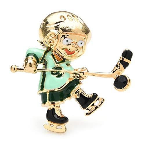 Emaille Spielen Eishockey Broschen Für Frauen Männer Sport Brosche Pins Geschenke