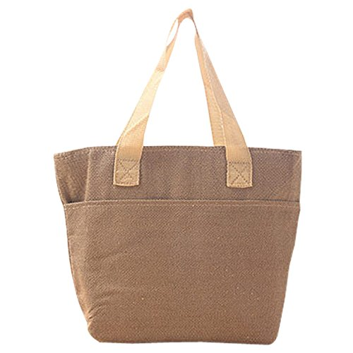 KINDOYO Nouveau Sac Frais-gardant de Fraisage de sac d'isolation de déjeuner de capacité élevée pour faire des Emplettes/Voyager , Marron