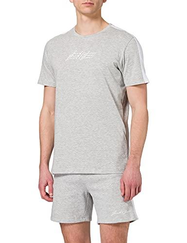 JACK & JONES Herren JOROMBRE 2PK SET MP Trainingsanzug, Light Grey Melange/Detail:REG Pack W LGM Shorts Comfort, S