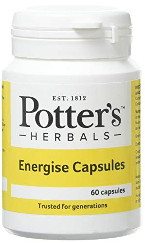Potter'S Herbals Energise Capsules – 60 Capsules - to Support Vitality and Physical Well-Being, to Help Maintain The Natural Defences of The Immune System – Panax Ginseng G115 Extract