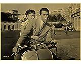 JIUBING Leinwand Poster Roman Holiday Audrey Hepburn Druckt