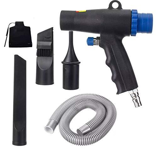 LQKYWNA Soplador de Polvo neumático, compresor colector de Polvo de Aire, Kit de Herramientas de soplado de vacío de Aire de función Dual, Herramienta de aspiradora neumática