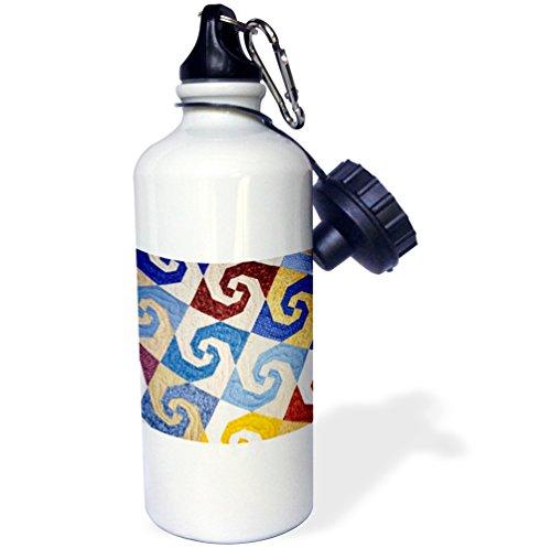 3dRose Bouteille d'eau unisexe Wb_97497_1 - Blanc - 600 ml