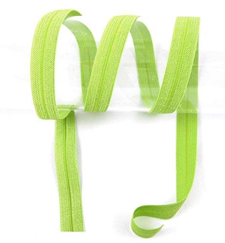 Schrägband elastisch, Falzband, 20/10mm, Kantenband, Gummi, nähen, Meterware, 1 Meter (Lime)