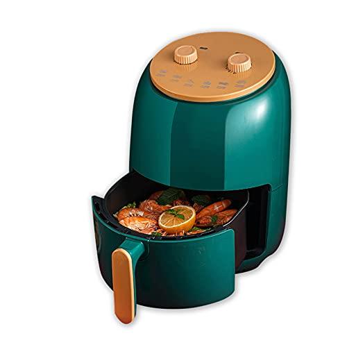 Freidora de aire 6.5L, freidora eléctrica completamente automática de 1400W, aceite saludable sin aceite, temperatura y tiempo ajustable, adecuado para pollo asado, tartas de huevo, papas fritas