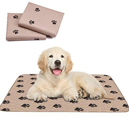 Pupouse 2er Pack Trainingsunterlagen für Welpen - Waschbare Trainingpads für Haustiere und Welpen Hundeklo Hunde Unterlage 80 x 90 cm (XL) (Braun)