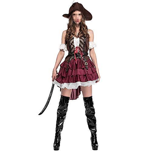 Disfraz Halloween, Carnaval Disfraz Cosplay para Disfraz Halloween Cosplay,Disfraz De Halloween Pareja Disfraz De Pirata Femenino Juego De Disfraces