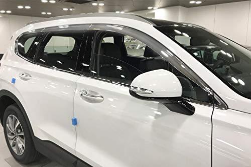 Autoclover Windabweiser-Set für Hyundai Santa Fe ab 2018, Chrom, 6 Stück